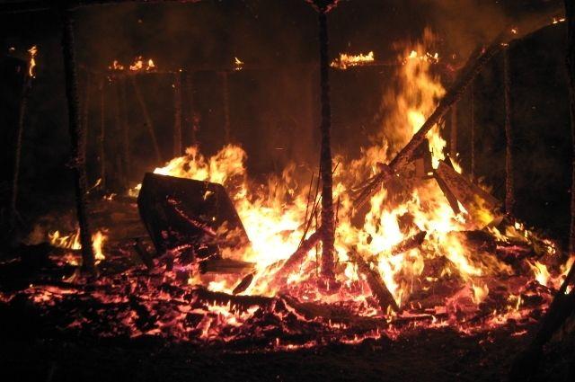 Впроцессе пожара вдеревне Шибнево сгорел 78-летний старик