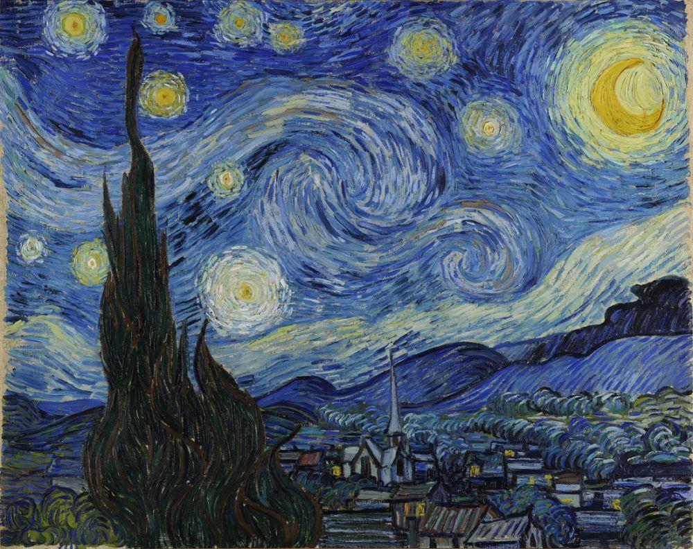 «Звёздная ночь», художник Винсент Ван Гог.