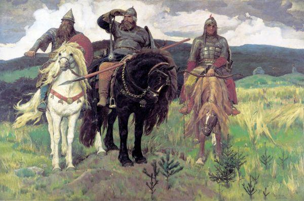 «Богатыри» Виктора Васнецова, фото оригинала.