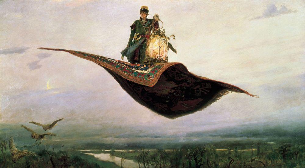 «Ковёр-самолёт» Виктора Васенцова, фото оригинала.