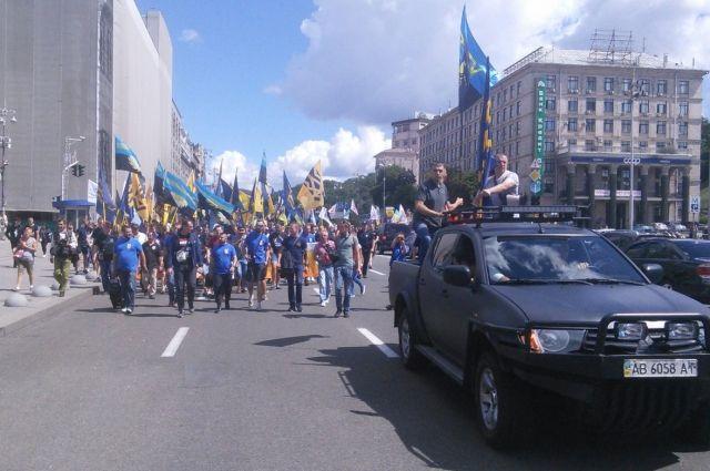Марш активистов «Азова»