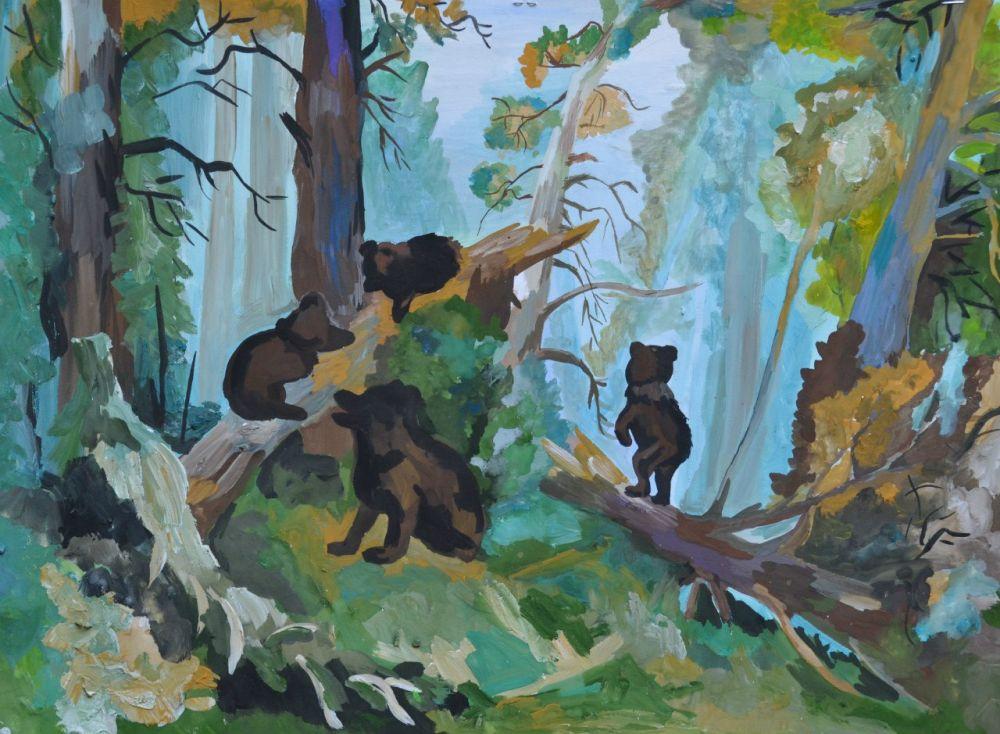 «Утро в сосновом лесу» в исполнении Анастасии Якушиной, 13 лет.