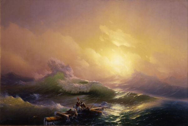 «Девятый вал» -  одна из самых знаменитых картин Ивана Айвазовского.