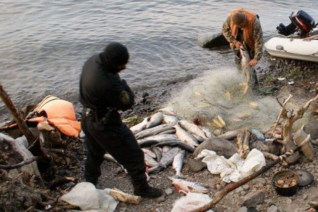 рыбаки досушивали сети