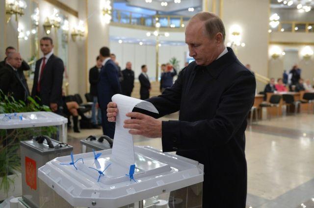 Путин отдал свой голос на выборах депутатов Госдумы