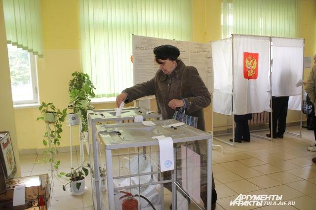 Голосование на избирательном участке №2229
