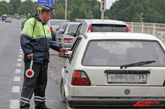 В Калининграде будут судить мужчину за наезд на полицейского.