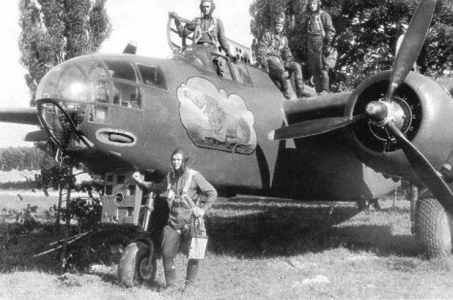 Так выглядел бомбардировщик «Бостон» во время Великой Отечественной войны.