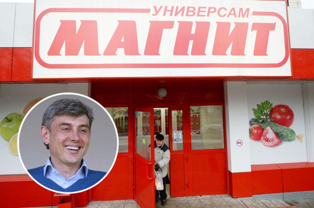 3 место: Компания розничной торговли  «Магнит». Гендиректор: Сергей Галицкий. Выручка: 950,6 млрд руб.