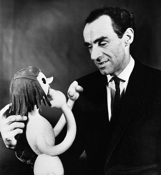 Артист Государственного центрального театра кукол Зиновий Гердт, 1969 год.