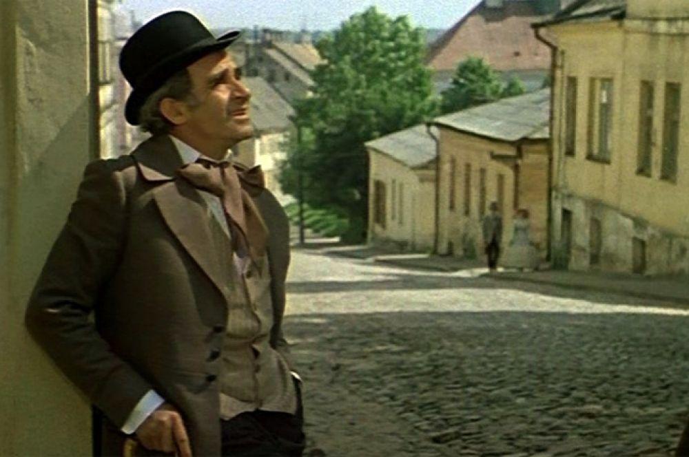 В фильме «Соломенная шляпка», 1974 год.