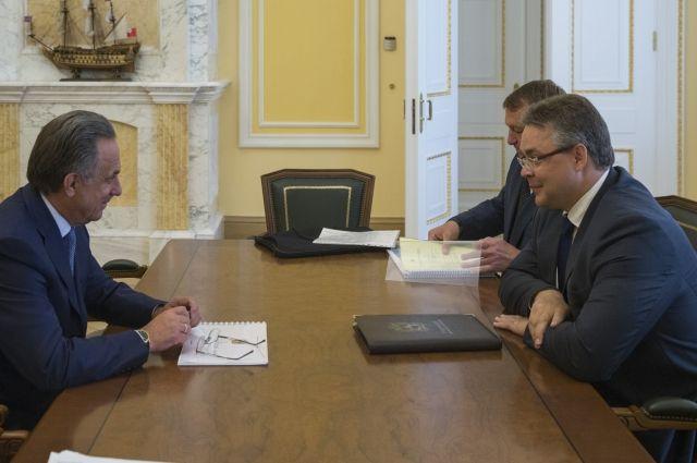 Губернатор Ставрополья представил министру спорта РФ проекты 2-х спортивных объектов