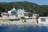 Русский Свято-Пантелеимонов монастырь на территории автономного монашеского государства Святой Горы Афон.