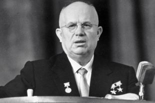 I-й секретарь ЦК КПСС, Председатель Совета Министров СССР Никита Сергеевич Хрущев, 1960 год.