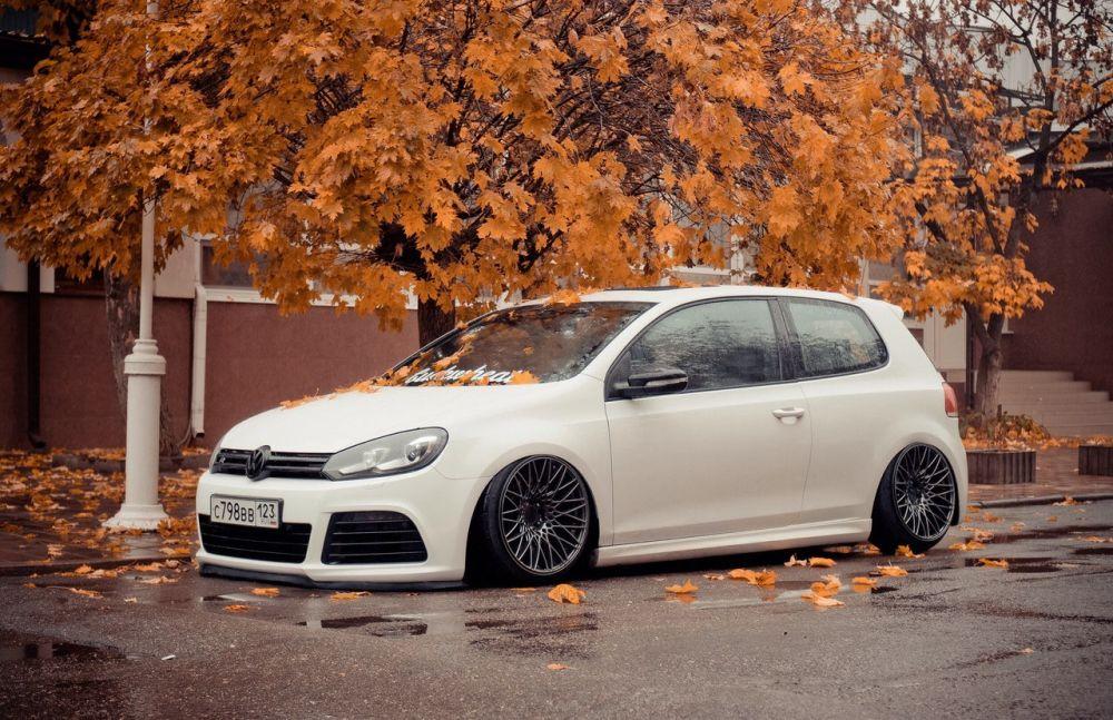 «Лучший Stance-Pnevmo». 2 место - Volkswagen Golf R Mk6 AirR, Краснодар.