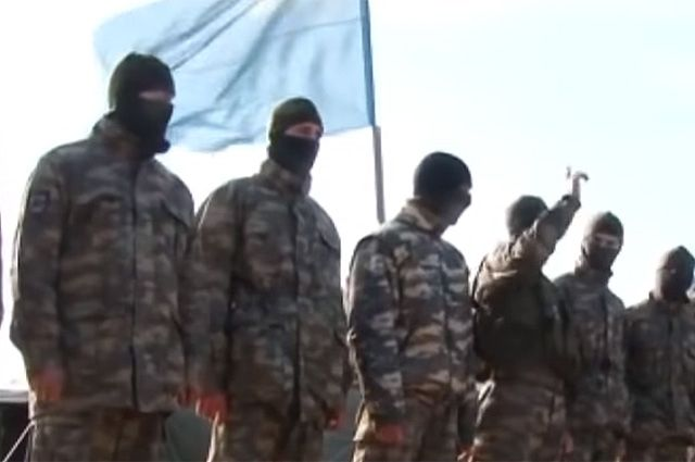 На фото: бойцы батальона Ислямова