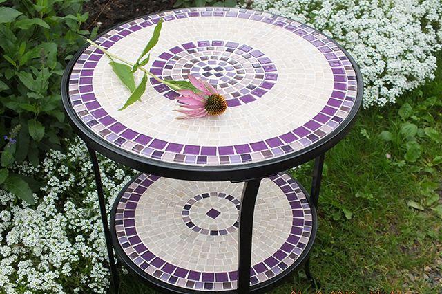 Стол с мозаикой столешницей своими руками