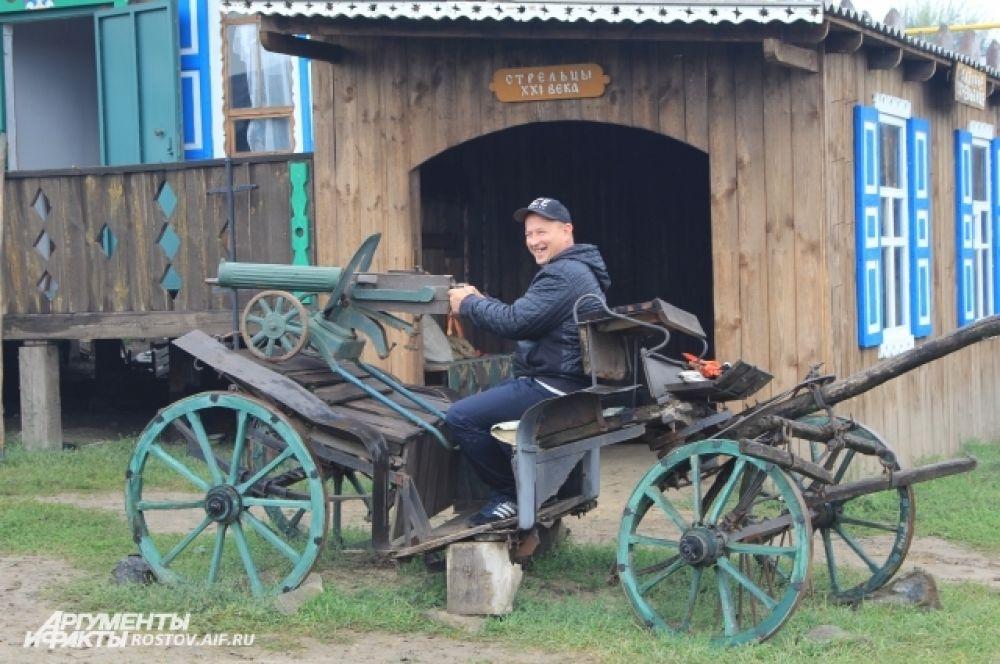 Развлекательно-познавательная программа «Казачья потеха» на этнографическом комплексе «Пухляковская казачья усадьба».