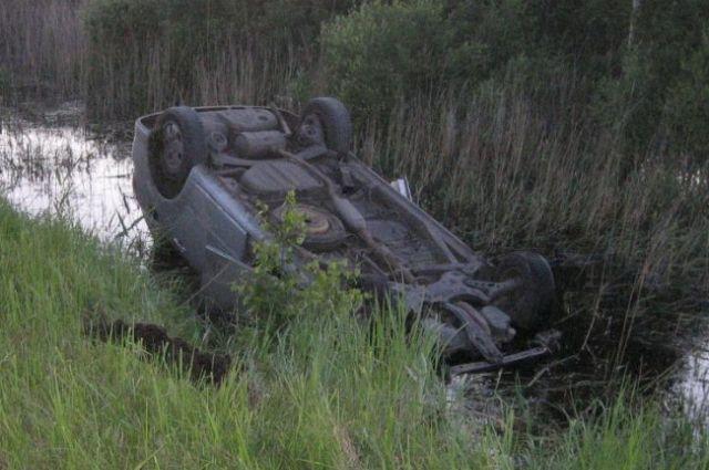 Предположительно, водитель не справился с управлением из-за опьянения.
