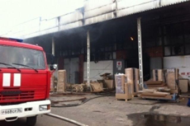 Вкомпании, которой принадлежит сгоревший склад мебели, неисключают версию поджога