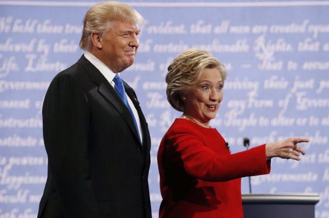Дональд Трамп и Хиллари Клинтон.