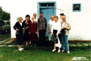 Немецкие гостьи в русской деревне.