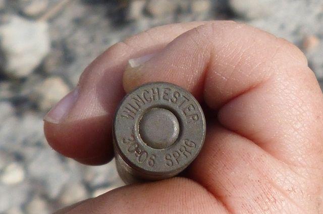 Полиция изъяла ружьё у браконьера.