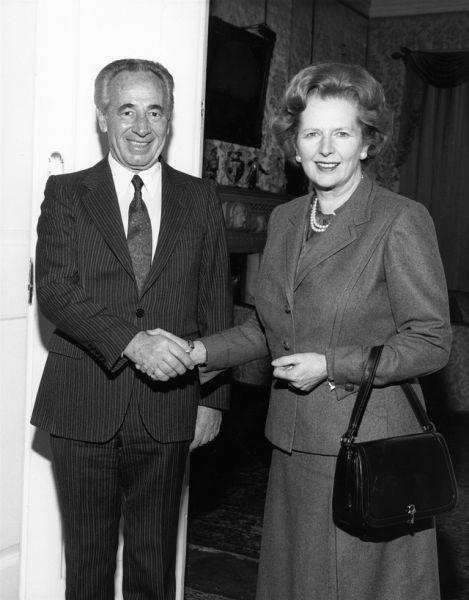 1987 год. Маргарет Тэтчер и Шимон Перес.