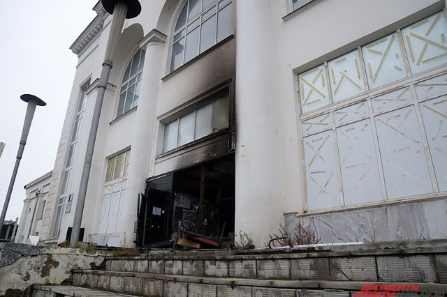 Перед началом работ в здании был пожар.