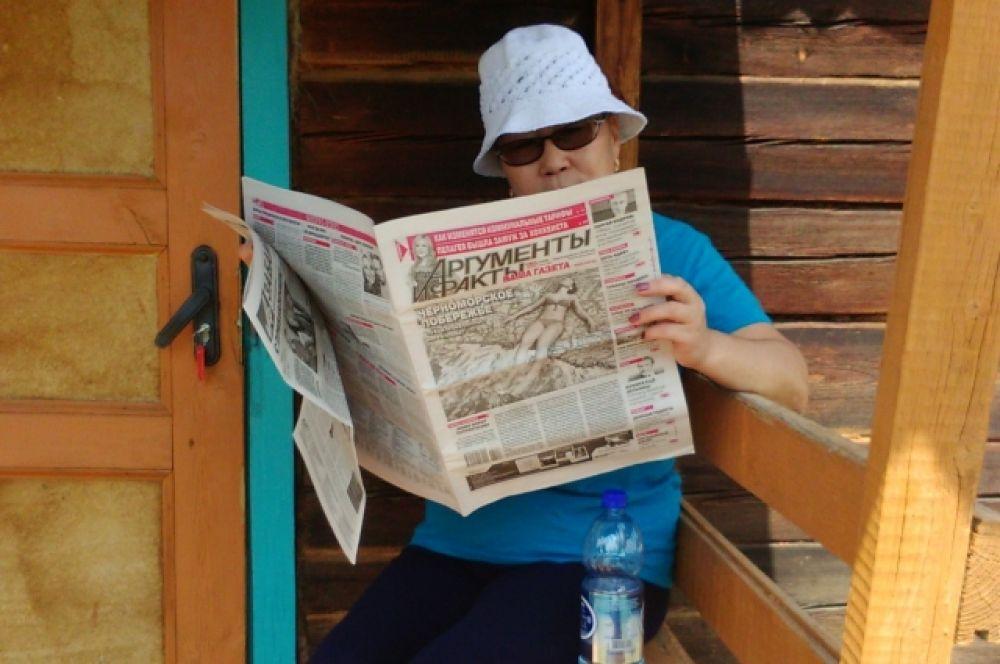 Дулма Мижитдоржиева с «АиФ» в санатории Угсахай.