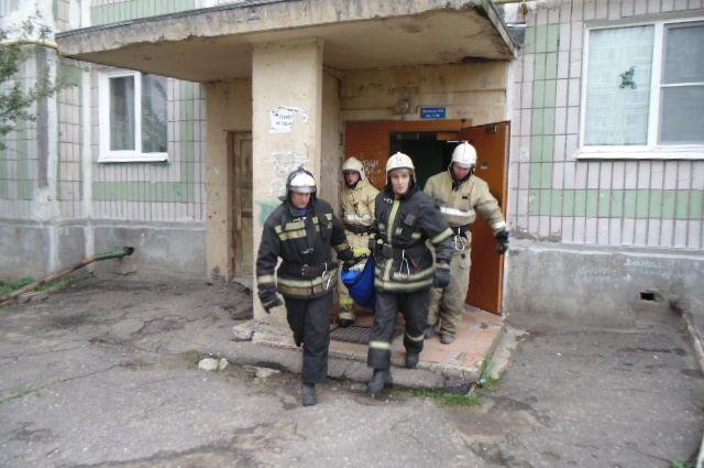 Пожар произошёл в двухэтажном доме.