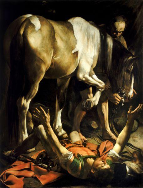Так произведения Караваджо увидел весь Рим. К художнику пришла слава и заказы от других церквей. В это время он создает много картин на религиозные темы. «Обращение Савла» (1601).