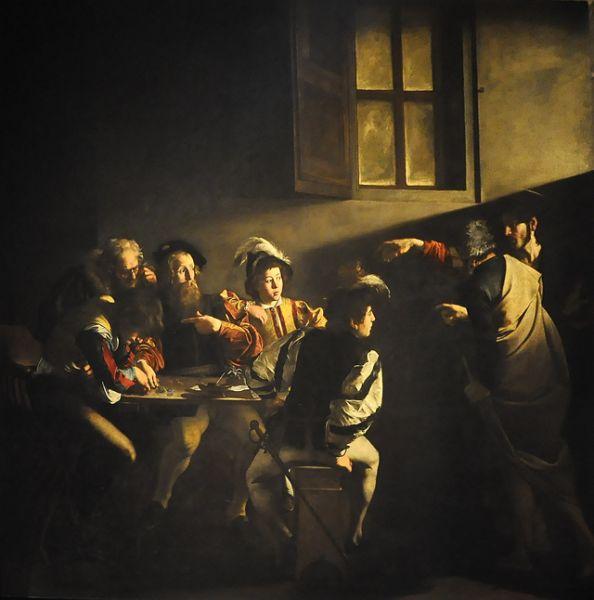 В 1599 году Караваджо заключил контракт на украшение церкви Сан-Луиджи-деи-Франчези. Первым произведением цикла стало «Призвание апостола Матфея» (1600), где художник продемонстрировал свое искусство в применении кьяроскуро.