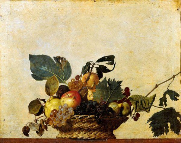 В 1596 году он создает первый натюрморт в истории итальянской живописи — «Корзина с фруктами».