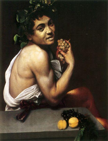 В 1593 Караваджо заболел римской лихорадкой и шесть месяцев он находился в госпитале на грани жизни и смерти. Возможно, под впечатлением от болезни он создал картину «Больной Вакх» (1593) —свой первый автопортрет.