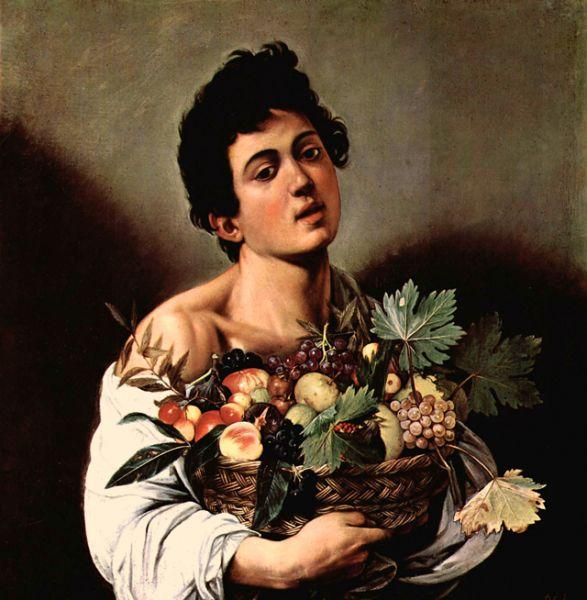 В Риме художник знакомится с Марио Миннити, который стал его учеником и моделью ряда картин, первой из которых является «Юноша с корзиной фруктов» (1593—1594).