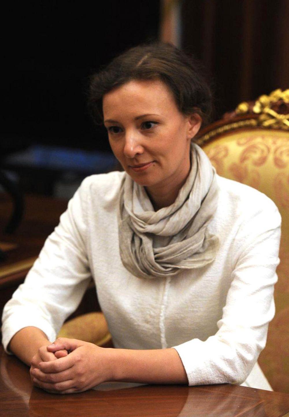 Уполномоченный при президенте по правам ребенка Анна Кузнецова.