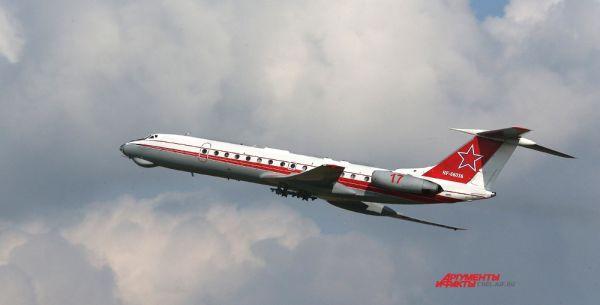 В воздухе  ТУ-134 Ш