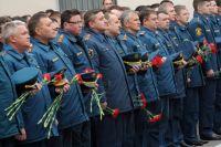 Панихида по погибшим пожарным в Москве