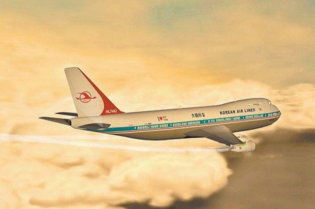 Компьютерное изображение «Боинга» 747-230B рейса 007.