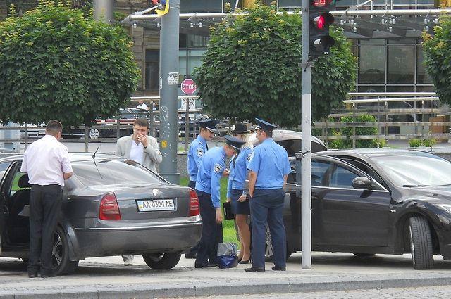 Милиция усилила охрану вцентре украинской столицы допятницы
