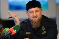 Рамзан Кадыров во время пресс-конференции в Грозном представителям федеральных и региональных СМИ.