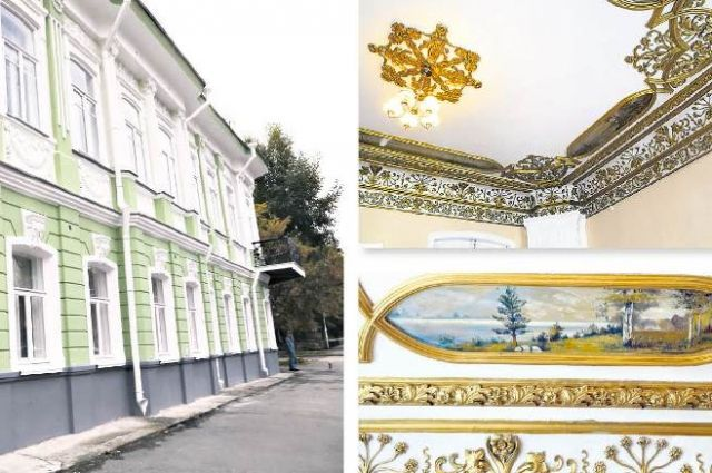 В доме Архипова впечатляют лепнина и росписи XIX века.