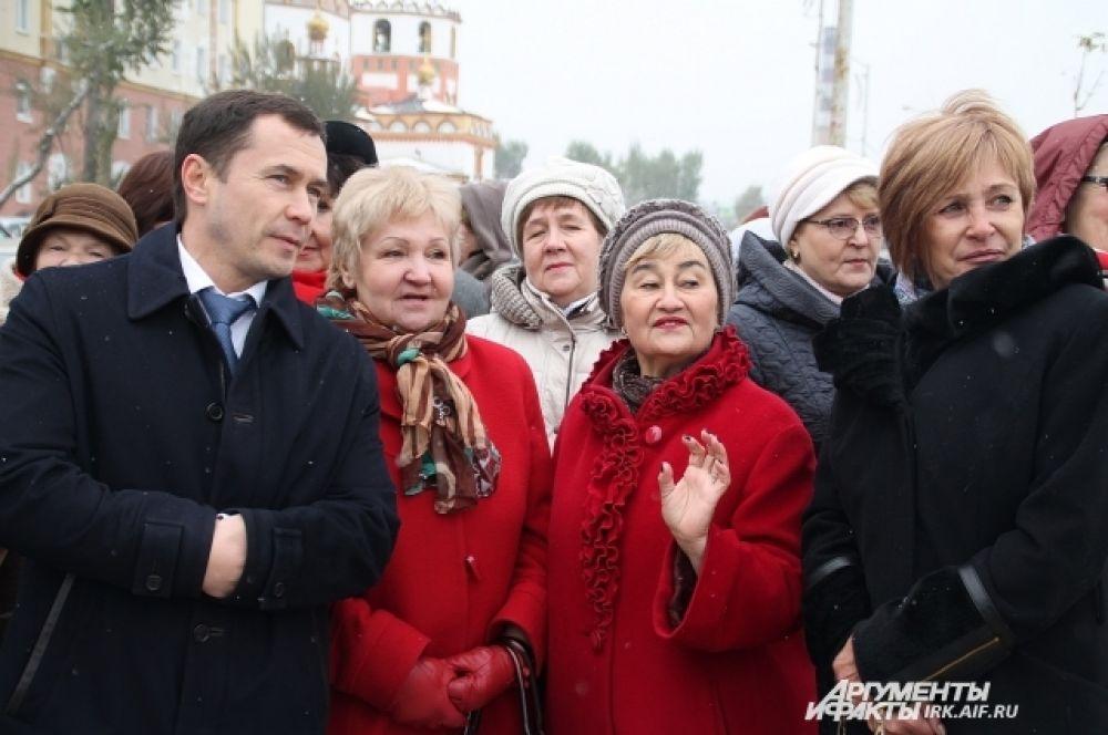 На открытии присутствовала общественность города, педагоги и мэр Дмитрий Бердников.