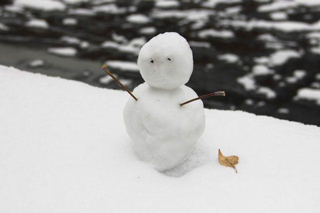 Не все автомобилисты были готовы к снегу.