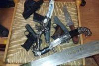 Оружие, которое изъяли у преступников