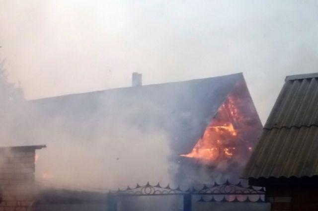 Пожар в д. Челкасы