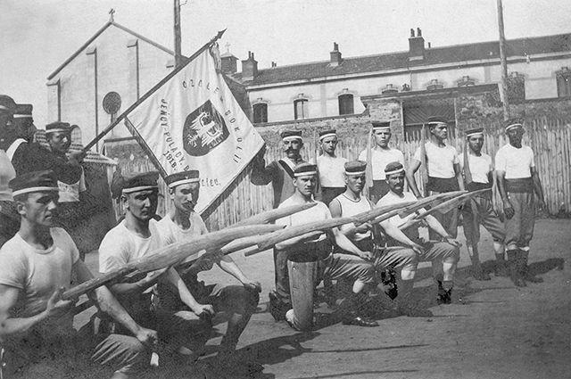 Солдаты польской армии, 1918 год.