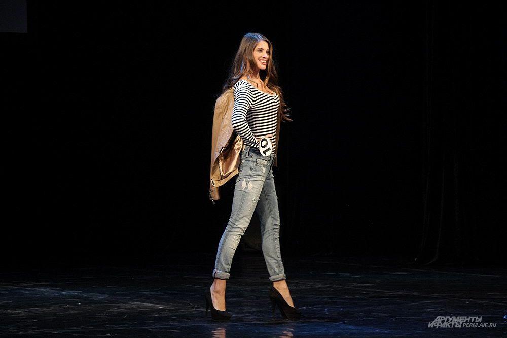 Одна из конкурсанток - Анастасия Филиппова.