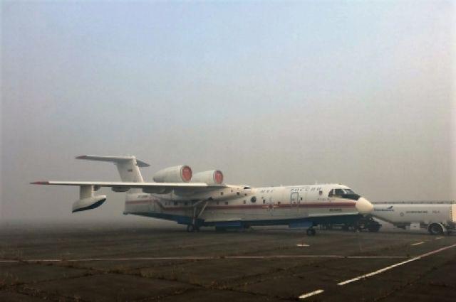 Самолёт не смог вылететь из-за сложных погодных условий.